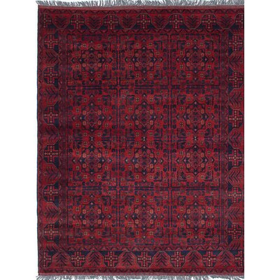 Bouldercombe Hand-Knotted Red/Blue Area Rug