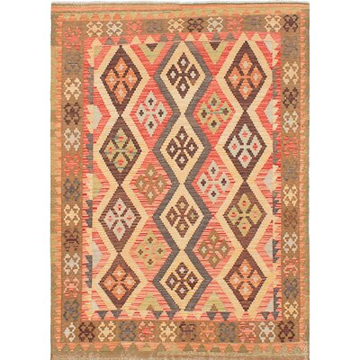 Anatolian Kilim Hand-Woven Beige/Orange Area Rug