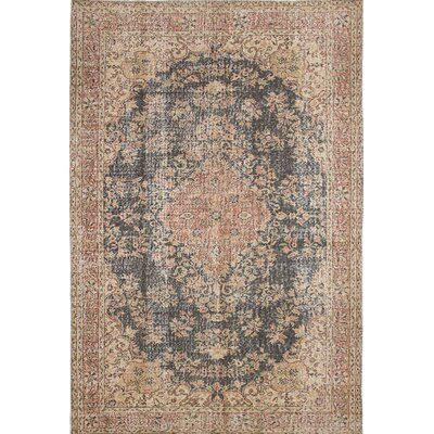 One-of-a-Kind Antalya Hand-Knotted Beige Area Rug