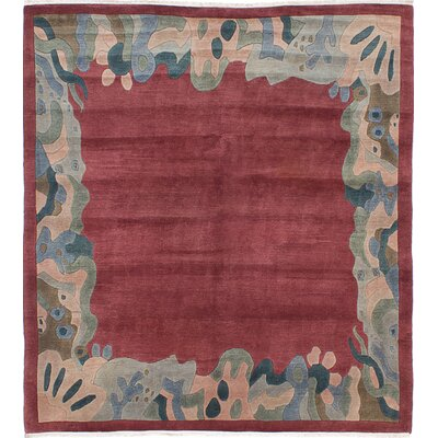 Kathmandu Hand-Knotted Light Red Area Rug
