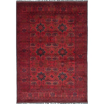 One-of-a-Kind Rosales Traditional Hand-Knotted Dark Copper Area Rug