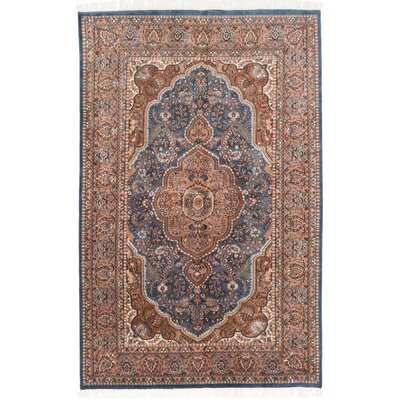 Orangetree Hand-Knotted Dark Blue Area Rug