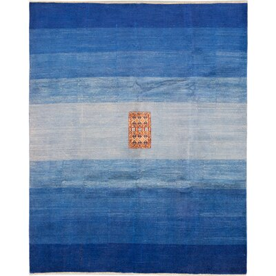 One-of-a-Kind Peshawar Ziegler Hand-Knotted Blue/Navy Blue Area Rug