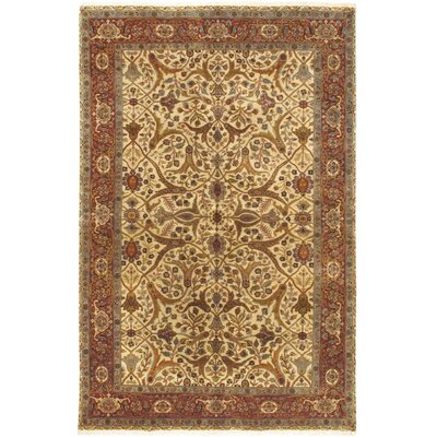 One-of-a-Kind Mirzapur Hand-Knotted Cream Area Rug