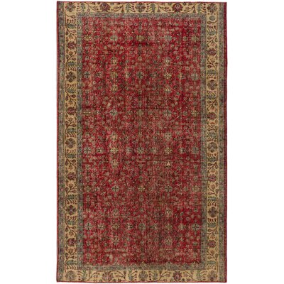 Olsen Hand-Knotted Dark Burgundy Area Rug