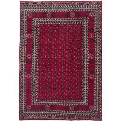 One-of-a-Kind Finest Rizbaft Hand-Knotted Dark Burgundy Area Rug