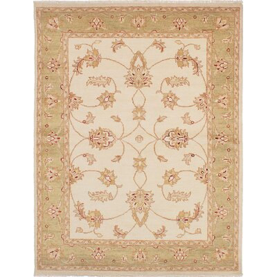 Chubi Collection Hand-Knotted Cream Area Rug