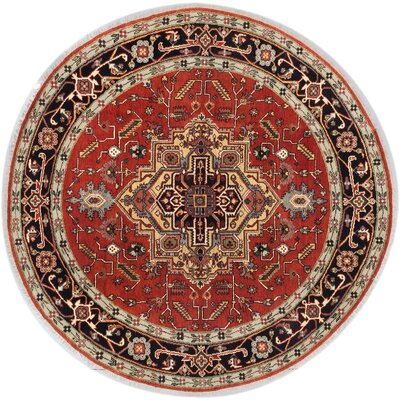 One-of-a-Kind Serapi Heritage Hand-Knotted Copper Area Rug