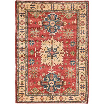 Bernard Wool Hand-Knotted Dark Burgundy Area Rug