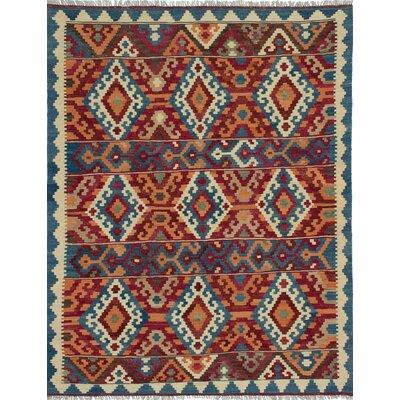 Classic Persian Hand-Woven Dark Burgundy/Light Violet Area Rug