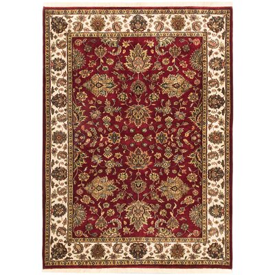 One-of-a-Kind Mirzapur Hand-Knotted Dark Red Area Rug