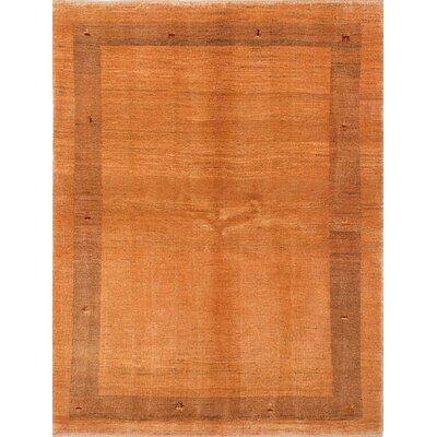Persian Gabbeh Hand-Knotted Light Orange Area Rug