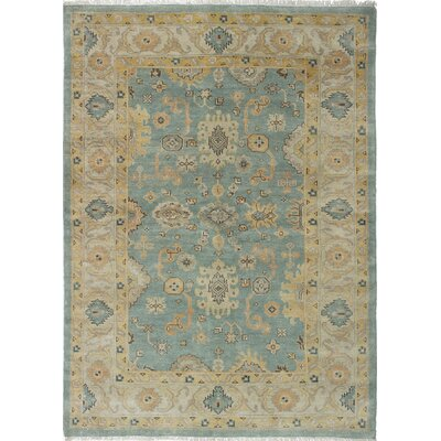 Royal Ushak Hand-Knotted Baby Blue/Cream Area Rug
