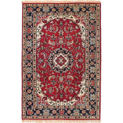 Royal Mahal Hand-Knotted Red Area Rug