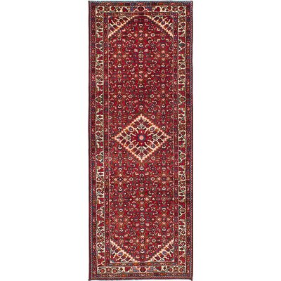One-of-a-Kind Crews Hand-Knotted Red Area Rug