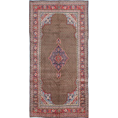 One-of-a-Kind Koliai Hand-Knotted Brown Area Rug
