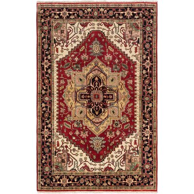 One-of-a-Kind Serapi Heritage Hand-Knotted Dark Burgundy Area Rug