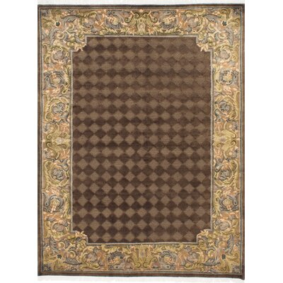 One-of-a-Kind Karma Hand-Knotted Dark Brown Area Rug