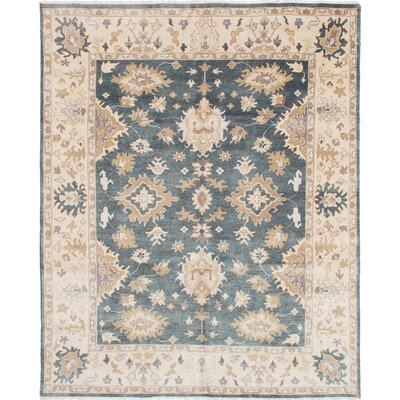 Royal Ushak Hand-Knotted Denim Blue Area Rug