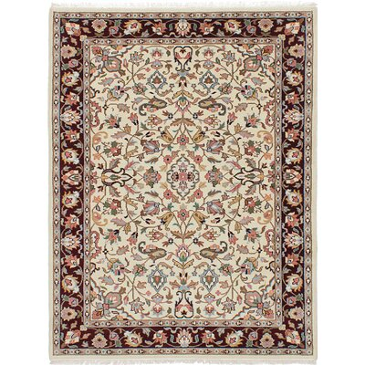 Kashmir Hand-Knotted Cream Area Rug