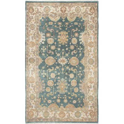 Royal Ushak Hand-Knotted Light Turquoise/Beige Area Rug
