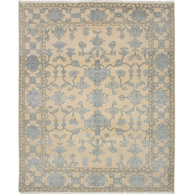 One-of-a-Kind Royal Ushak Hand-Knotted Ivory Area Rug