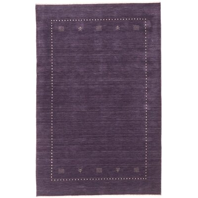 Remy Hand-Knotted Purple Area Rug Rug Size: 6 x 9