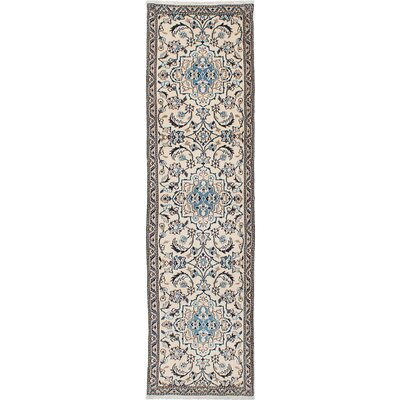 One-of-a-Kind Nain 9La Hand-Knotted Cream Area Rug