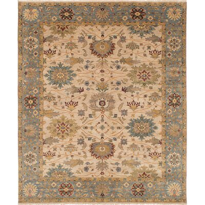 One-of-a-Kind Bassford Hand-Knotted Ivory Area Rug