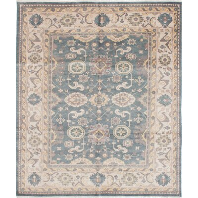 One-of-a-Kind Royal Ushak Hand-Knotted Turquoise Area Rug