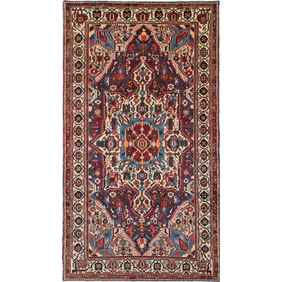 Bakhtiar Hand-Knotted Navy Blue/Red Area Rug