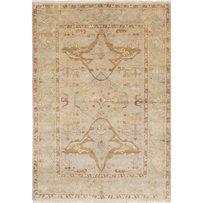 Royal Ushak Hand-Knotted Light Gray Area Rug