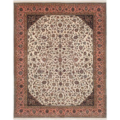 One-of-a-Kind Kenmar Hand-Knotted Cream Area Rug
