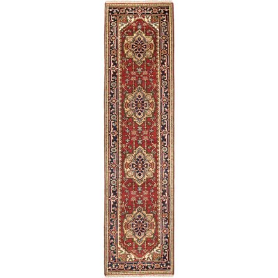 One-of-a-Kind Serapi Heritage Wool Hand-Knotted Dark Copper Area Rug Rug Size: Runner 27 x 101