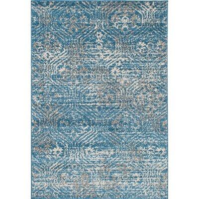 La Morocco Shag Turquoise Area Rug Rug Size: 52 x 75