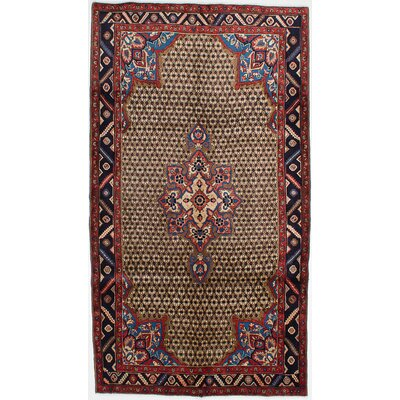 One-of-a-Kind Koliai Hand-Knotted Brown Area Rug Rug Size: 51 x 93