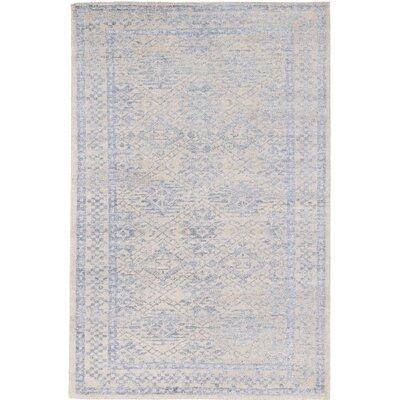 La Seda Hand-Knotted Beige/Gray Area Rug