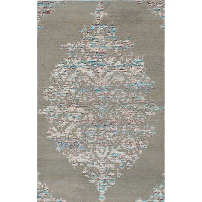 Poplin Hand-Knotted Gray/Beige Area Rug