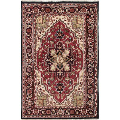 Larsen Hand-Knotted Red/Beige Area Rug