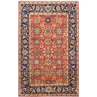 Serapi Heritage Hand-Knotted Orange/Beige Area Rug