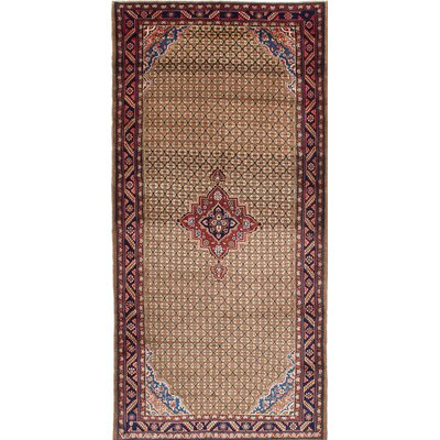 Koliai Hand-Knotted Brown/Beige Area Rug
