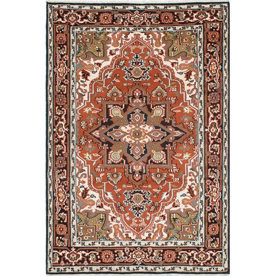 Larsen Hand-Knotted Dark Copper/Beige Area Rug