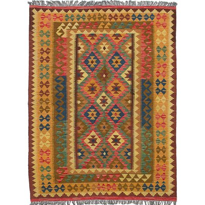 Fianna Kilim Flat-Woven Red/Blue Area Rug