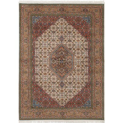 One-of-a-Kind Bijar Hand-Knotted Cream/Brown Area Rug
