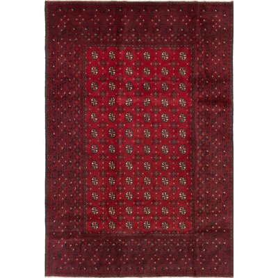 Bridges Hand-Knotted Wool Dark Burgundy Area Rug