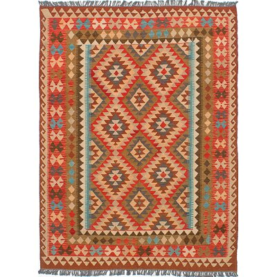 Olmsted Flat-Woven Brown/Light Red Area Rug