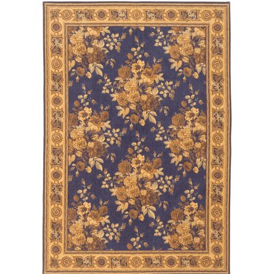 Royale Flat-Woven Navy Blue Area Rug