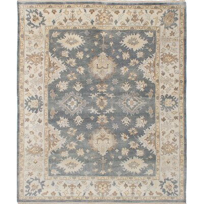 Royal Ushak Hand-Knotted Dark Gray/Beige Area Rug