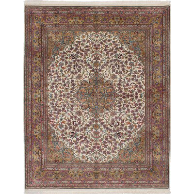 One-of-a-Kind Kenmar Hand-Knotted Beige/Red Area Rug