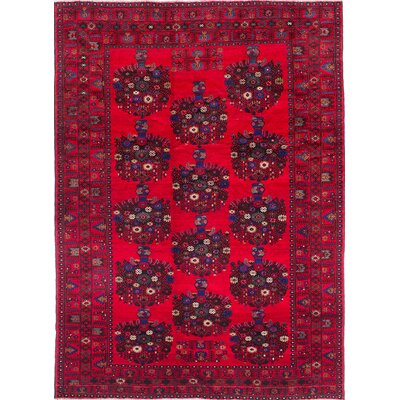 Finest Rizbaft Hand-Knotted Red/Blue Area Rug